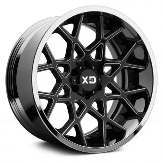 XD SERIES® - XD203 CHOPSTIX Black and Milled Center with Chrome Lip