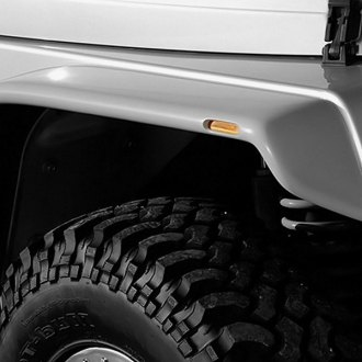Xenon® - Flat Panel Style Black Front and Rear Fender Flares Kit
