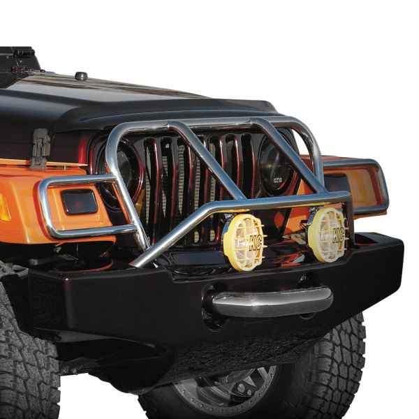 Image may not reflect your exact vehicle! Xenon® - Wrangler Style Front Bumper Cover (Unpainted)
