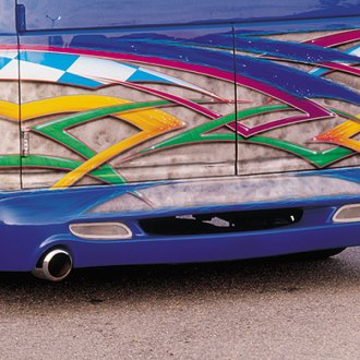 Image may not reflect your exact vehicle! Xenon® - Wrap-Around Dual Exhaust Rear Valance
