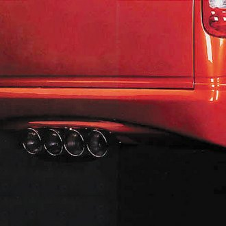 Image may not reflect your exact vehicle! Xenon® - Wrap-Around Quad Exhaust Rear Valance