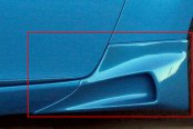Xenon® - Rear Driver Side Body Scoop with Black Vinyl