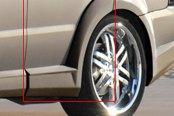 Xenon® - Rear Driver Side Door Panel Skirt with Fender Flare