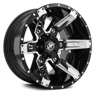 XF OFF-ROAD® - XF-214 Gloss Black with Chrome Inserts