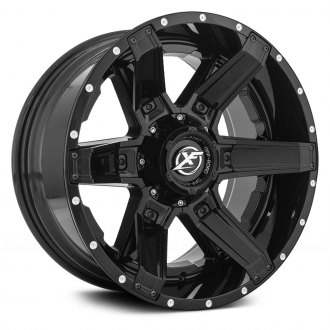XF OFF-ROAD® - XF-214 Gloss Black with Inserts and Dots