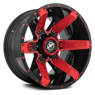 XF OFF-ROAD® - XF-214 Gloss Black with Gloss Red Inserts and Red Dots