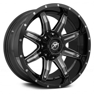 XF OFF-ROAD® - XF-215 Gloss Black with Milled Accent and Dots