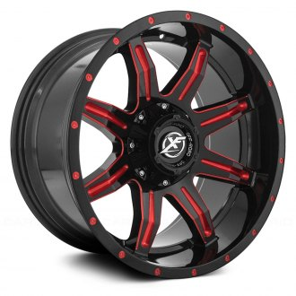 XF OFF-ROAD® - XF-215 Gloss Black with Red Milled Accent and Red Dots