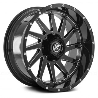 XF OFF-ROAD® - XF-216 Gloss Black with Milled Accent and Dots