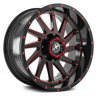 XF OFF-ROAD® - XF-216 Gloss Black with Red Milled Accent and Red Dots