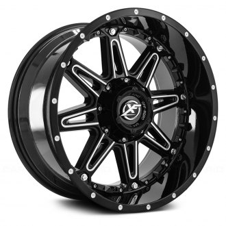 XF OFF-ROAD® - XF-217 Gloss Black with Milled Accent and Dots