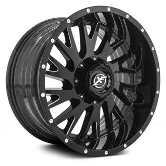 XF OFF-ROAD® - XF-221 Gloss Black with Milled Accent and Dots
