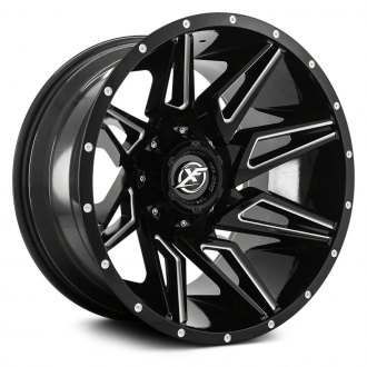 XF OFF-ROAD® - XF-218 Gloss Black with Milled Accent and Dots
