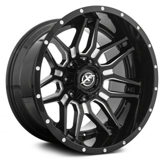 XF OFF-ROAD® - XF-222 Gloss Black with Milled Accent and Dots