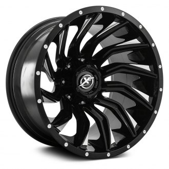 XF OFF-ROAD® - XF-224 Gloss Black with Machined Face and Dots