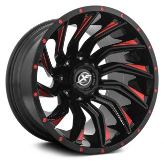 XF OFF-ROAD® - XF-224 Gloss Black with Machined Red Line