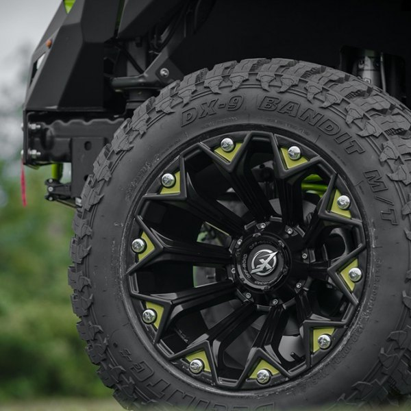 XF OFF-ROAD® - XF-212 Satin Black Custom Accents on Jeep Wrangler