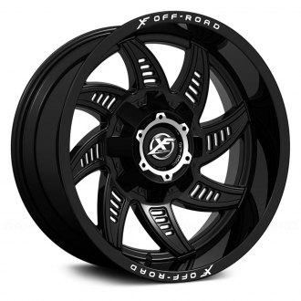 XF OFF-ROAD® - XF-206 Matte Black with Milled Holes