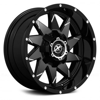 XF OFF-ROAD® - XF-208 Matte Black with Milled Lines
