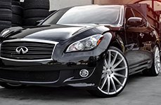 XIX EXOTIC® - XIX39 Silver with Machined Face on Infiniti M37