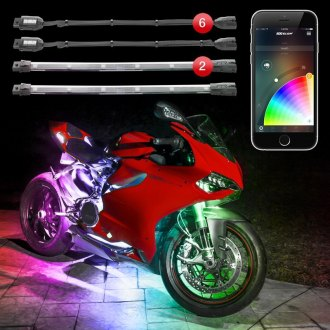 XKGlow® - XKChrome App Control Multicolor Motorcycle LED Underbody Kit