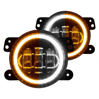 XKGlow® - White Switchback Halo Projector LED Fog Lights with Amber Turn Signal