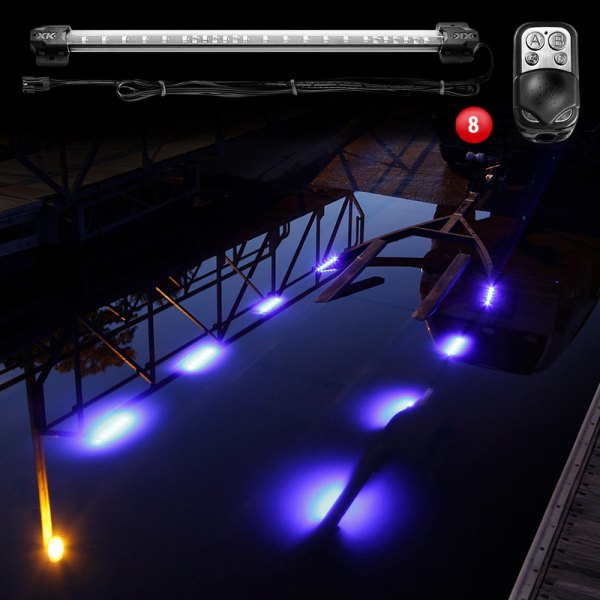 xkglow boat trailer docking multi color led light kit. Black Bedroom Furniture Sets. Home Design Ideas