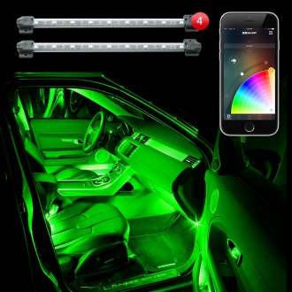 XKGlow® - XKChrome Bluetooth App Control Multi Color Interior Accent LED Light Kit