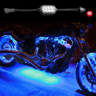 XKGlow® - Single Color Motorcycle Underglow LED Pod Kit
