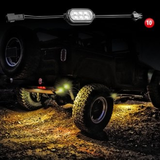 XKGlow® - Ultrabright White Rock Fender Light LED Pod Kit