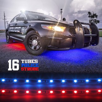 XKGlow® - Police Law Enforcement Emergency LED Underbody Warning Strobe Light Kit