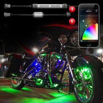XKGlow® - XKChrome Bluetooth App Control Multi Color Motorcycle Underglow LED Light Kit