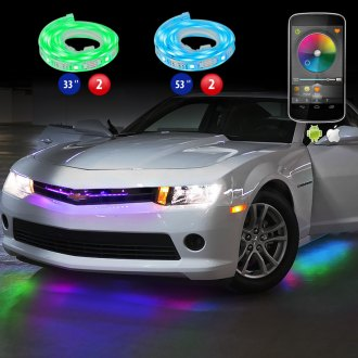 XKGlow® - XKSilver WiFi App Control Multi Color Flexible LED Underbody Light Kit