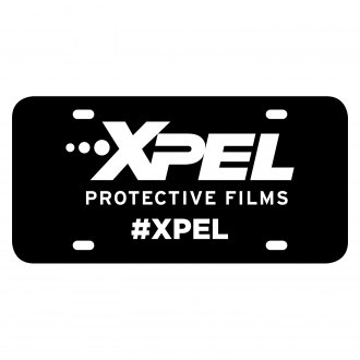 XPEL® - Vanity Black License Plate with White XPEL Logo