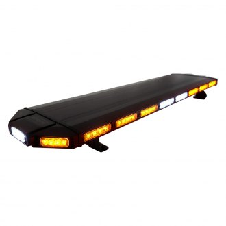 "Xprite® - Black Hawk 48"" Amber Permanent/Bolt-on Mount Emergency LED Light Bar"