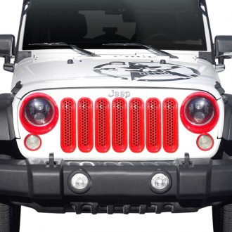 Xprite® - Red Grille Inserts and Bezels for Headlights and Turn Signal Lights