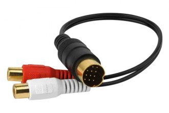 Xscorpion® - Kenwood 13 Pin Din-RCA Adapter Audio Input