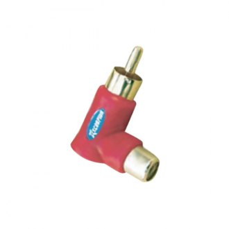 Xscorpion® - Red RCA Right Angle Adapters Pack