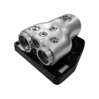 Xscorpion® - Power and Ground Platinum Distribution Block with One 0/2 Gauge Input and One 2/4 Gauge, One 4 Gauge, Two 8 Gauge Outputs