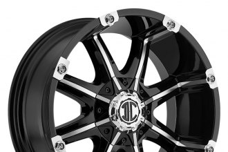 "XTREME® - NX-3 Satin Black with Machined Face (18"" x 9"", +25 Offset, 6x139.7 Bolt Pattern, 78.3mm Hub)"