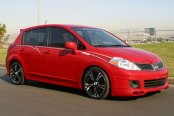 XXR® - 001 Black with Machined Face on Nissan Versa