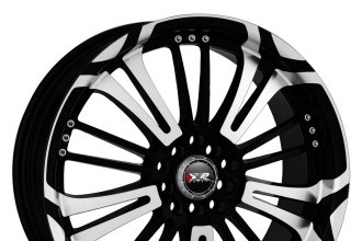 "XXR® - 001 Black with Machined Face (18"" x 7.5"", +42 Offset, 4x108 Bolt Pattern, 73.1mm Hub)"