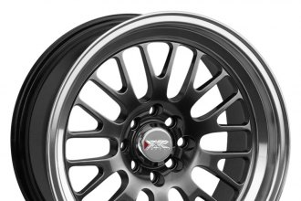 "XXR® - 531 Chromium Black with Machined Lip (17"" x 8"", +35 Offset, 5x114.3 Bolt Pattern, 73.1mm Hub)"