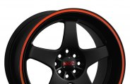 XXR® - 962 Flat Black with Red Stripe