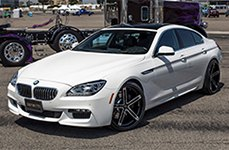 ZENETTI® - CAPRI Flat Black with Machined Face and Chrome Lip on BMW 6-Series