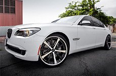 ZENETTI® - ROMA Black with Machined Face and Chrome Lip on BMW 7-Series