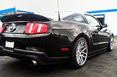 ZENETTI® - TORINO Brushed with Chrome Lip on Ford Mustang
