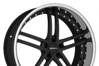 ZENETTI® - BELLAGIO Flat Black with Chrome Lip