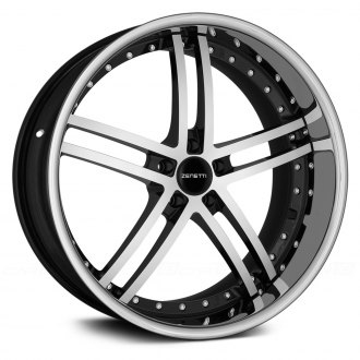 ZENETTI® - BELLAGIO Flat Black with Machined Face and Chrome Lip