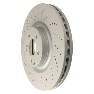 Zimmermann® - Coat-Z Drilled Vented 1-Piece Front Brake Rotor